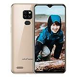 Ulefone Note 7 (2019) Handy ohne Vertrag DREI Kameras DREI Kartensteckplatz, 6,1 Zoll 16 GB Speicher, Dual SIM Android Smartphone Günstig, Face Unlock, 3500mAh - Gold (Global Version)