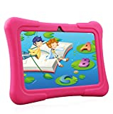 Dragon Touch Kinder Tablet, Y88X Plus Kindertablet Pad Lerntablet für Kids, Android 8.1 OS 7 'IPS-Display 1 GB Ram 16 GB Rom Kidoz & Google Play vorinstalliert mit Kid-Proof-Hülle (Rosa)
