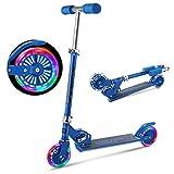 OUTCAMER Kinder Roller Faltbarer Tretroller für Kinder ab 3-10 Jahre, Kinder Scooter mit Verstellbarer Lenkstange und LED Räder ausgestattet 2,3 KG Kind Kick Scooter Max. Belastbarkeit 50KG