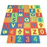 INTEY Puzzlematte 40 Stücke Schaum Spielmatte Große Größe Interlocking Baby Foam Mats für Baby Spielen (Farbe Zufällig)