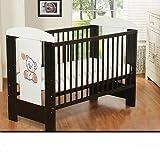 Best For Kids Gitterbett My Sweet Baby mit neuer 10 cm Matratze aus Schaumstoff TÜV Zertifiziert Geprüft, Kinderbett Babybett braun 4 Teile 120x60