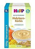 HiPP Herzhafte Bio Getreidebreie, Mehrkorn-Kürbis, 4er Pack (4 x 350 g)