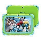 Tablet PC für Kinder 7 Zoll Android 7.1 IPS HD Bildschirm 1GB/16GB Babypad PC mit WiFi Kamera Spiele Google Play Store Bluetooth Unterstützter Kids-Proof Case GMS Certified (Grün)