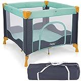 Froggy Reisebett TROPICAL Babybett Laufstall mit Schlafunterlage, Matratze, praktische Transporttasche, kompakt 94 x 94 x 76 cm