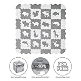Velovendo Extradicke Puzzle-Spielmatte | Sanfte Baby-Bodenmatte (Tiere)