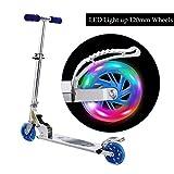WeSkate Scooter Kinder Roller Tretroller Cityroller Kick Scooter klappbar mit LED Big Wheel Kugellager ABEC 7 für Mädchen Kinder ab 3 Jahre (B3/rosa)