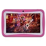 Kinder Tablets PC 7 Zoll, Android 7.1 OS, Kids Tablets ,Dual-Kamera mit kindgerechte Silikon Hülle for BENEVE (ROSA)