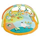 Fehn 071559 3-D-Activity-Decke Sleeping Forest – Spielbogen mit 5 abnehmbaren Spielzeugen für Babys Spiel & Spaß von Geburt an – Maße: 80x105cm