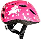 Sport Direct Kinder-Fahrradhelm fliegendes Einhorn Mädchen rosa Einhorn 48 – 52cm