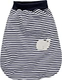 Schnizler Kleinkinder Strampelsack aus Baumwolle, praktischer Pucksack mit elastischem Umschlag-Bund, mit Wal-Motiv gestreift