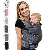 Fastique Kids Babytragetuch - elastisches Tragetuch für Früh- und Neugeborene Kleinkinder - inkl. Baby Wrap Carrier Anleitung