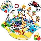 Lionelo Anika 2in1 Baby Krabbeldecke mit Spielbogen, Laufstallfunktion, Spielbogen, ab Geburt nutzbar