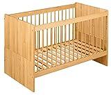 BioKinder 22600 Lina Babybett Kinderbett Gitterbett aus Massivholz Erle 70 x 140 cm