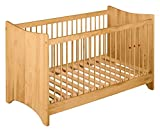 BioKinder 22278 Emma Babybett Kinderbett Gitterbett aus Massivholz Erle 70 x 140 cm