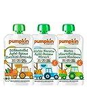 Pumpkin Organics ÜBERRASCHUNGSPAKET Bio Gemüse Quetschies, 50er Pack (50 x 100g) - Zwischenmahlzeit für Babys ab dem 6. Monat