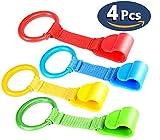 Ringe für Baby Kinderbetten Groß, Reisebetten Abnehmbarer Handringe für Dem Kind Helfen Aufstehen in Der Wiege (4 Stück) VOOA