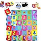 KIDUKU® 86 teilige Puzzlematte TÜV Rheinland geprüft - Kinderspielteppich, Spielmatte, Spielteppich für Baby & Kinder