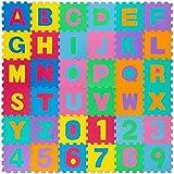 all Kids United® Kinder Puzzlematte Kinderteppich Spiel-Teppich Spielmatte Eva Schaumstoff-Matte 86-TLG; 178 x 178 cm