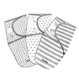 Baby Puckdecke Pucktuch Wickel-Decke von Cuddlebug - 3er Pack - Universal Verstellbare Schlafsack Decke für Säuglinge Babys Neugeborene 0-3 Monate