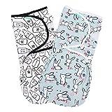 Lekebaby Pucksack Baby - 2er Pack Universal Verstellbare Schlafsack Decke für Säuglinge Babys Neugeborene 3-6 Monate Unisex, 1.0 TOG