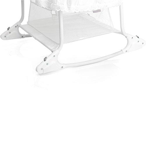 babywiege stubenwagen im romantischen stil mit schaukelfunktion abnehmbarer babykorb wei. Black Bedroom Furniture Sets. Home Design Ideas