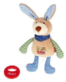 sigikid, Mädchen und Jungen, Spieluhr, Stofftier Hase, Blau/Grün, 40356 -