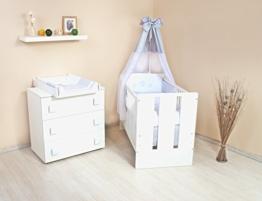 kinderzimmer komplett set wickelkommode babybett mit vollausstattung