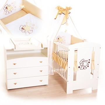 babybett und wickelkommode komplettausstattung in beige. Black Bedroom Furniture Sets. Home Design Ideas