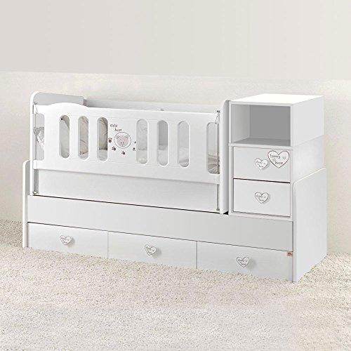 mitwachsendes babybett wickelkommode komplettset cute bear. Black Bedroom Furniture Sets. Home Design Ideas