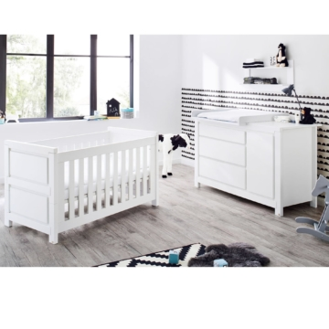 pinolino 2 tlg babyzimmer milk extrabreit. Black Bedroom Furniture Sets. Home Design Ideas