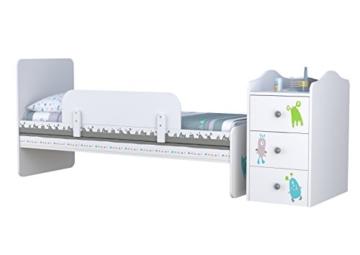 babybett mit wickeltisch von polini kids kommode. Black Bedroom Furniture Sets. Home Design Ideas