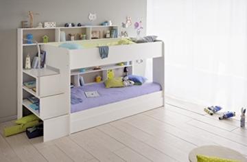Etagenbett Kind Und Baby : Kinder etagenbett mit bettkastenk treppe und geländer heiabubu.de