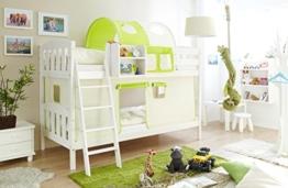 Etagenbett Mit Gitterstäben : Etagenbett winkelförmig mit rutsche farbe holz natur