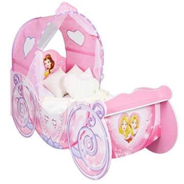 Kleinkinderbett Für Mädchen Im Kutschendesign Von Disney Prinzessin, Mit  Beleuchtetem Baldachin