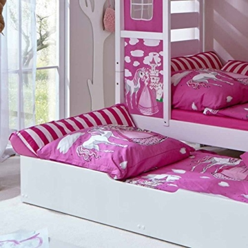 prinzessin bett mit ausziehbett wei rosa. Black Bedroom Furniture Sets. Home Design Ideas